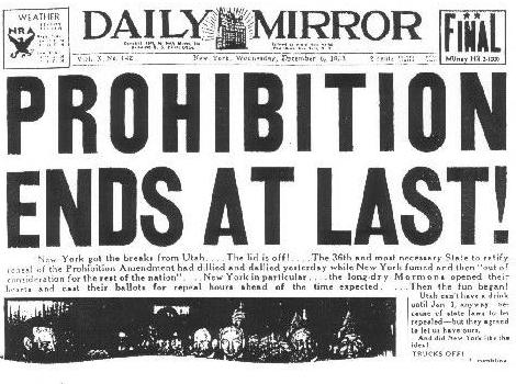 Prohibition Newspaper
