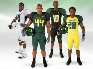 The many fashion choices of the Oregon Ducks...and children are starving in Appalachia.