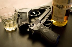 guns and liquor