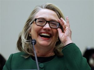 No wonder she's laughing.