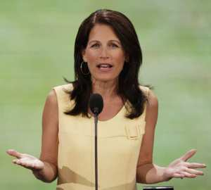 I won't have Michele Bachmann to kick around any more. Good.