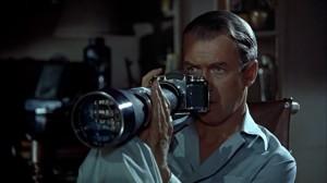 """Photographer/artist/ Peeping Tom Arne Swenson as played by Jimmy Stewart in """"Rear Window."""""""