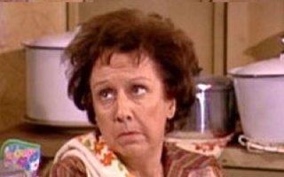 Edith Bunker, being stifled.