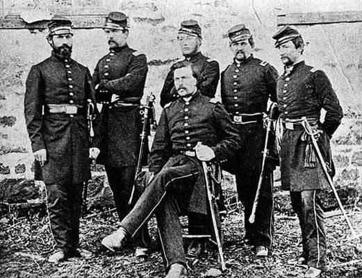 Officers of the First Minnesota Volunteer Regiment