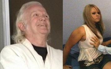 Leroy Fick (L); unidentified woman, (C) Mayor Filner (R)
