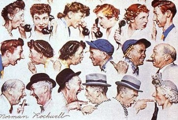 Remarkably, Norman Rockwell accurately predicted how news would be reported in 2013!