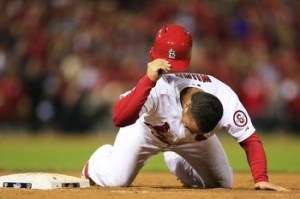 Picked off first, Kolton Wong curses the fates...