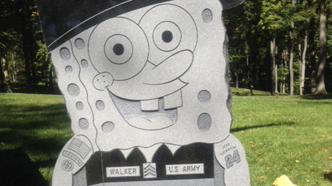 SpongeBob Gravestone Removed
