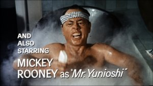 "And who can forget Mickey Rooney's hilarious turn in that beloved American film masterpiece ""Breakfast at Tiffany's""?"