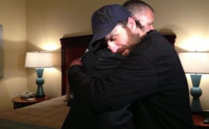 Scott Stuckey gets hugged by a grateful non-criminal