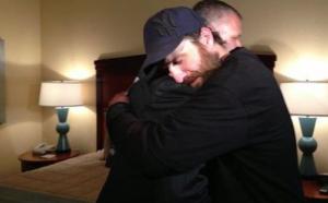 Scott Stuckey gets hugged by a grateful non-criminal