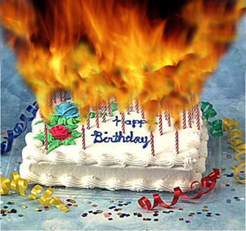 FlamingBirthdayCake1