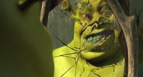 Shrek in the mirror