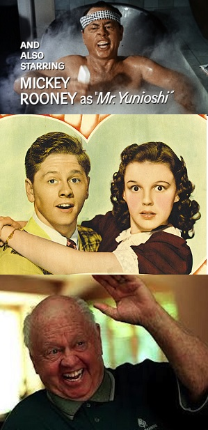 Some of the many faces of Mickey Rooney...