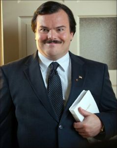 Jack Black as Bernie, the nicest murderer you'd ever want to know.