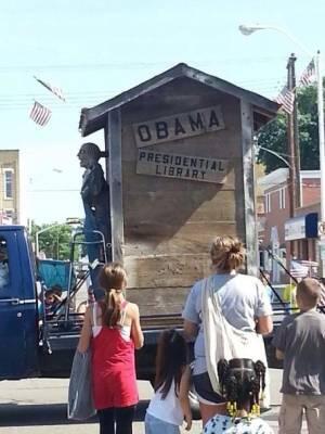 Obama float