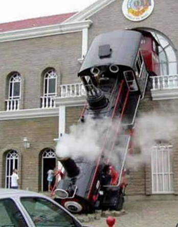 steam train wreck