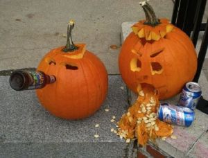 A drunken pumpkin riot! Now THAT'S News!