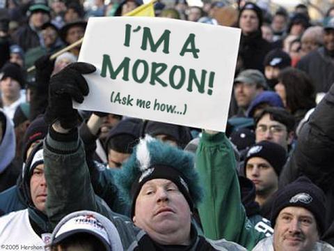 dumb football fan