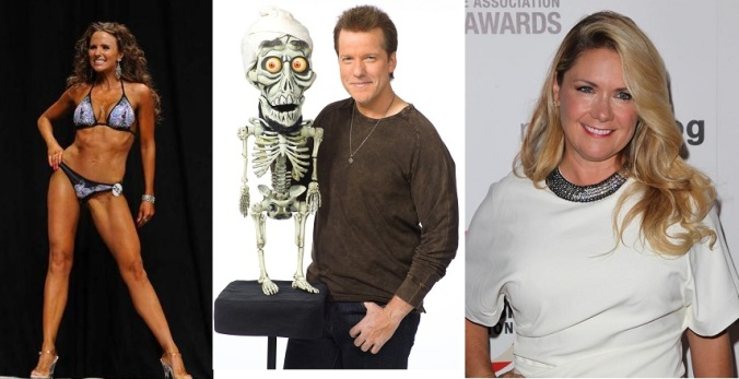 The ventriloquist and his spouses. Can you guess which is the ex?