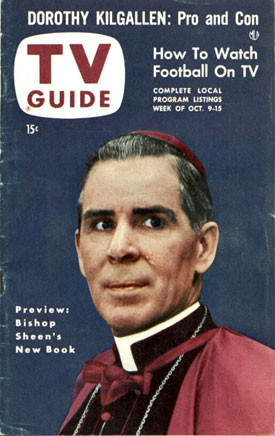This was Bishopr Sheen, after whom the Sheen Center is named. Having spent a lot of time watching and listening to Sheen, I am fairly certain that he would not concur with the Sheen Center's decision. Why? Because, among  other reasons, he was a lot smarter than that.
