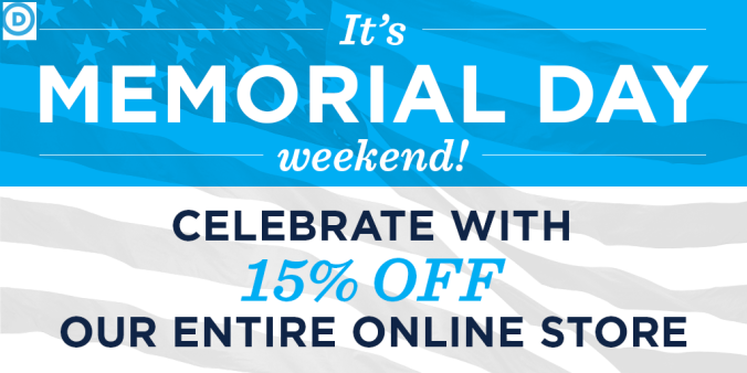 The Democrats ‏@TheDemocrats May 23 Memorial Day Weekend SALE. Save 15% when you enter MEMORIALDAY15 at The Democrats ✔ @TheDemocrats Happy Memorial Day weekend, everyone!