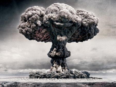 Atom bomb cloud