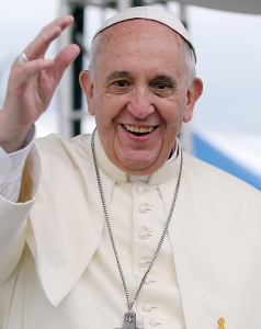 Hi Pope Francis! I couldn't care less what you think about global warming, air conditioning, gay marriage, redistribution of wealth or world peace, but have a great time on your trip!""