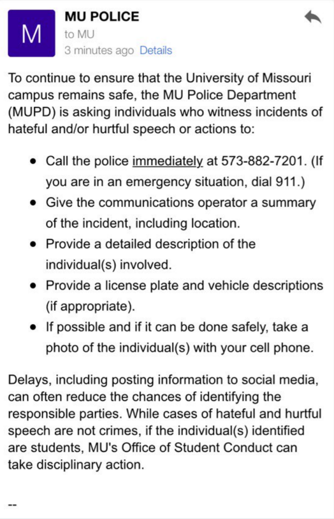 Police email
