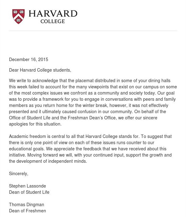 apology Harvard