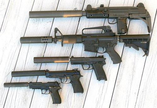 silencers and guns