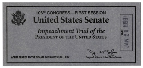 Impeachment ticket