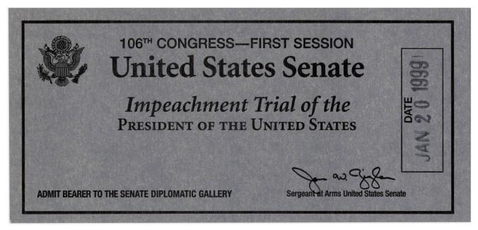 Impeachment ticket