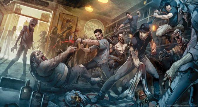 zombie bar fight
