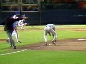 Bill Buckner's error: he didn't kill anyone, but to many Red Sox fan, this was worse.