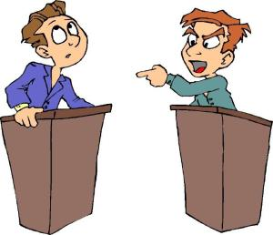 Apparently the candidates debates have caused amass amnesia about what competitive debating is all about...
