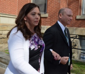 The fake lawyer with her husband, if it really IS her husband....