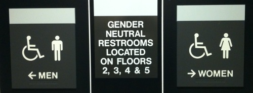 rest rooms gender