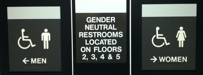 rest rooms gender
