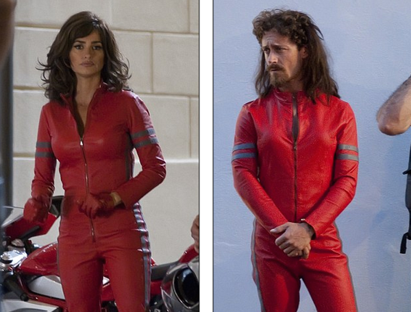 Penelope Cruz and her stunt double. Works for me!
