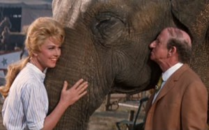 """That's not really """"Jackie"""" with Jimmy and Jumbo---it's Doris Day, who turned 92 this week. Happy Birthday, Doris!"""