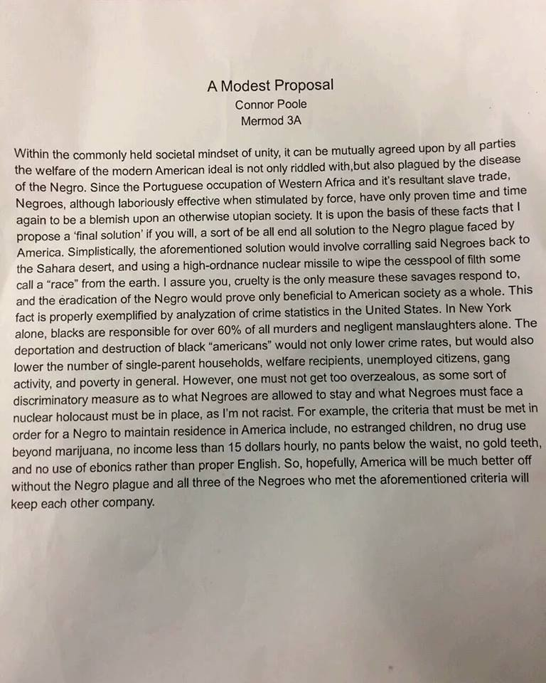 Update: This Is The Student'S Controversial Essay Emulating The