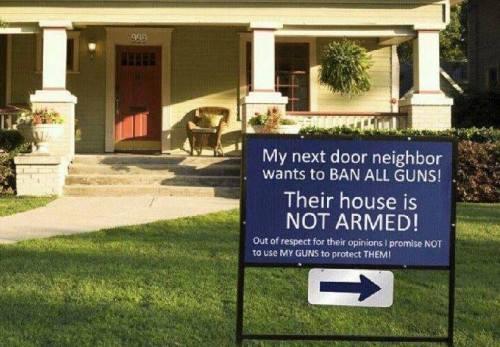 Gun Lawn Sign