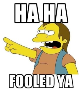 I would at least think the revelation that The Simpsons' Nelson Muntz was a White House foreign policy advisor would be news...