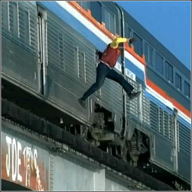 off the train
