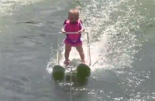 waterskiing baby