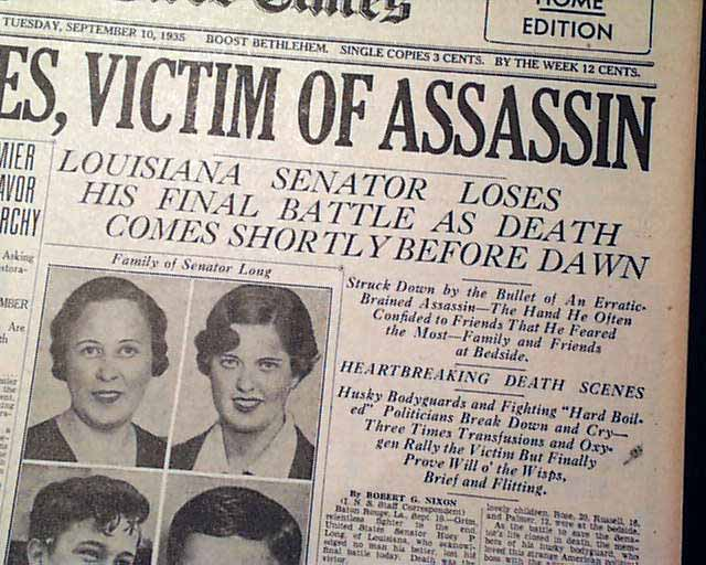 Huey Long assassination