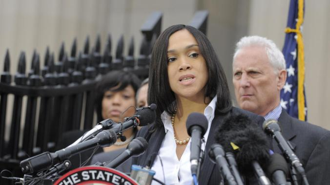 Mosby in 2015, ruining lives, pandering to the mob, and undermining justice...
