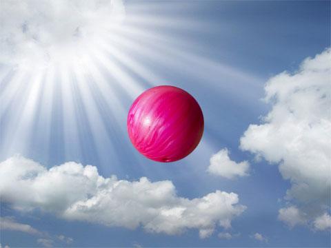 falling bowling ball