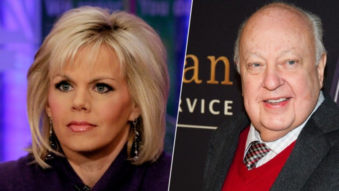Ex Fox Blonde Gretchen Carlson and Fox stud-muffin Roger Aisles
